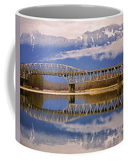 Coffee Mug featuring the photograph Bridge Over Calm Waters by Jordan Blackstone