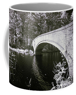 Coffee Mug featuring the photograph Bridge Over Infrared Waters by Brian Hale