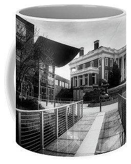 Bridge To Hunter Museum In Black And White Coffee Mug