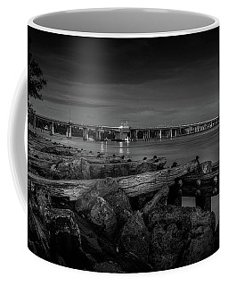 Bridge To Longboat Key In Bw Coffee Mug