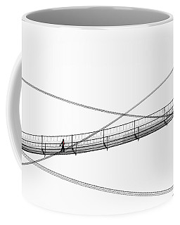 Coffee Mug featuring the photograph Bridge Walker by Joe Bonita