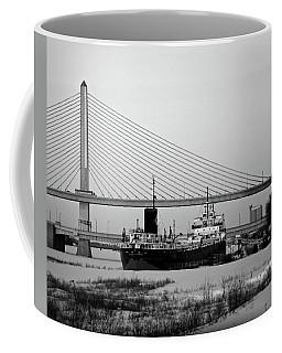Docked Under The Glass City Skyway  Coffee Mug