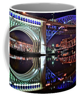 Coffee Mug featuring the photograph Bridges by Frozen in Time Fine Art Photography