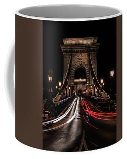 Bridges Of Budapest - Chain Bridge Coffee Mug by Jaroslaw Blaminsky