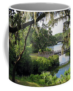 Coffee Mug featuring the photograph Bridges Over Tranquil Waters by Rick Locke