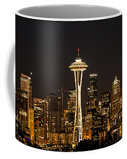 Bright At Night - Space Needle Coffee Mug