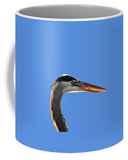 Coffee Mug featuring the photograph Bright Beak Blue .png by Al Powell Photography USA