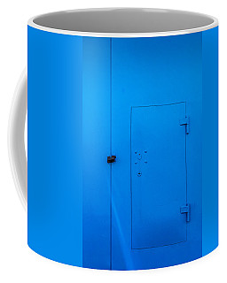 Bright Blue Locked Door And Padlock Coffee Mug
