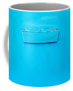 Bright Blue Paint On Metal With Postbox Coffee Mug by John Williams