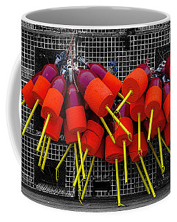 Coffee Mug featuring the photograph Bright Buoys by Marty Saccone