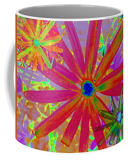 Bright Flowers Wallpaper Coffee Mug by Charlotte Schafer