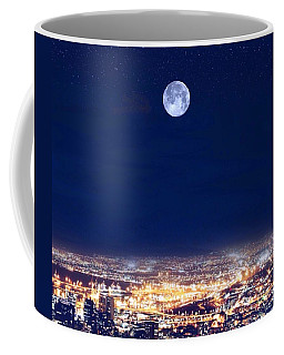 Coffee Mug featuring the digital art Bright Lights Big City by Mark Taylor