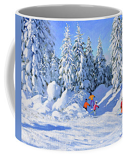 Bright Morning And Snow Covered Trees, Morzine Coffee Mug