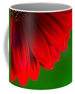 Bright Red Chrysanthemum Flower Petals And Stamen Coffee Mug