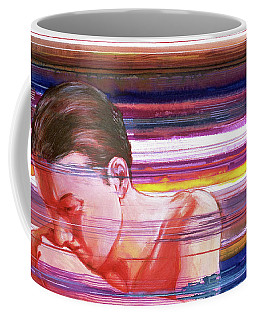Coffee Mug featuring the painting Bright Silence by Rene Capone