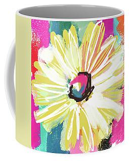 Bright Yellow Flower- Art By Linda Woods Coffee Mug