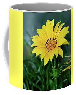 Coffee Mug featuring the photograph Bright Yellow Gazania By Kaye Menner by Kaye Menner