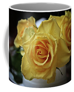 Bright Yellow Roses Coffee Mug