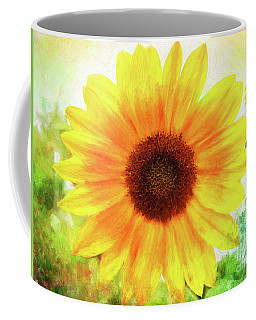 Bright Yellow Sunflower - Painted Summer Sunshine Coffee Mug