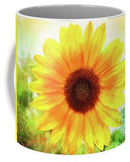 Bright Yellow Sunflower - Painted Summer Sunshine Coffee Mug