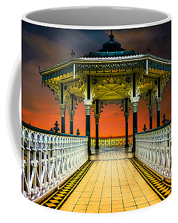 Coffee Mug featuring the photograph Brighton's Promenade Bandstand by Chris Lord