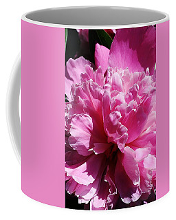 Coffee Mug featuring the photograph Brillant Pink Peony by Bruce Bley