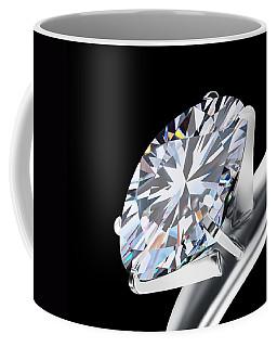 Brilliant Cut Diamond Coffee Mug
