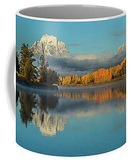 Brilliant Dawn At Moran Coffee Mug by Yeates Photography