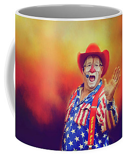 Coffee Mug featuring the photograph Bringing Fun To The Rodeo Greek Ellick Jr.  by Toni Hopper