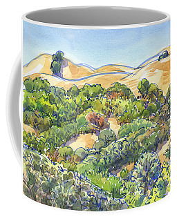 Coffee Mug featuring the painting Briones Regional Park Hills by Judith Kunzle