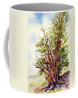Coffee Mug featuring the painting Bristle Cone Pine by Bonnie Rinier
