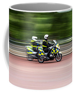 British Police Motorcycle Coffee Mug