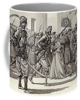 British Soldiers Are Forced Into The Black Hole Of Calcutta Coffee Mug