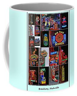 Broadway, Nashville - Collage # 2 Coffee Mug