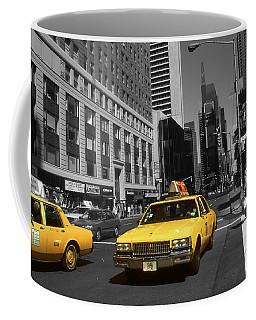 New York Broadway - Yellow Taxi Cabs Coffee Mug