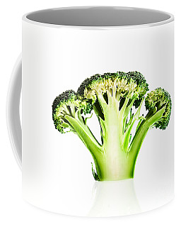 Broccoli Cutaway On White Coffee Mug