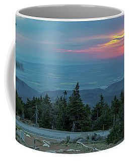 Coffee Mug featuring the photograph Brocken, Harz - Just After Sunrise by Andreas Levi