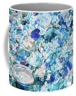 Broken Glass Blue Coffee Mug