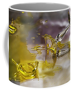 Coffee Mug featuring the photograph Broken Glass by Susan Capuano