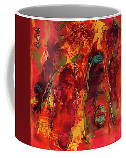 Broken Mask Encaustic Coffee Mug