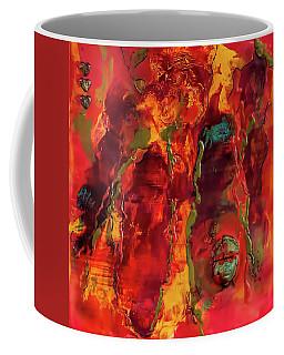 Broken Mask Encaustic Coffee Mug
