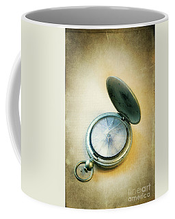 Coffee Mug featuring the photograph Broken Pocket Watch by Jill Battaglia