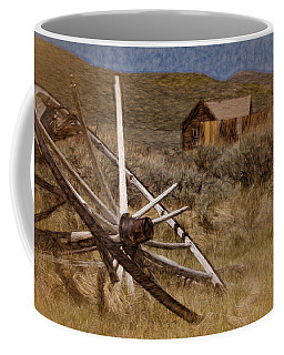 Coffee Mug featuring the photograph Broken Spokes by Lana Trussell