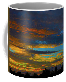 Coffee Mug featuring the photograph Broken Sunset by Mark Blauhoefer