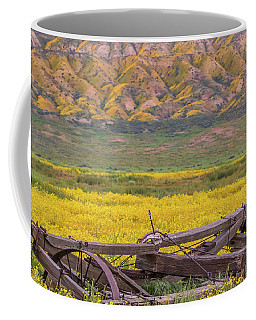 Broken Wagon In A Field Of Flowers Coffee Mug