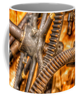 Bromo Seltzer Tower's 1911 Seth Thomas Clock Mechanism Abstract #6 Coffee Mug