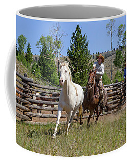 Coffee Mug featuring the photograph Bronc Roper by Jack Bell