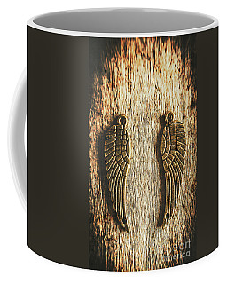 Bronze Angel Wings Coffee Mug