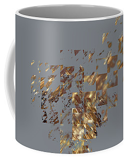 Bronze On Gray Square Coffee Mug