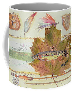 Brook Trout On Fly #2 Coffee Mug by Ralph Root